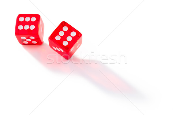 Two dices in motion against a white background Stock photo © wavebreak_media