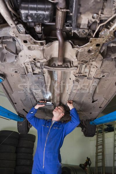 Auto mechanic examining car Stock photo © wavebreak_media
