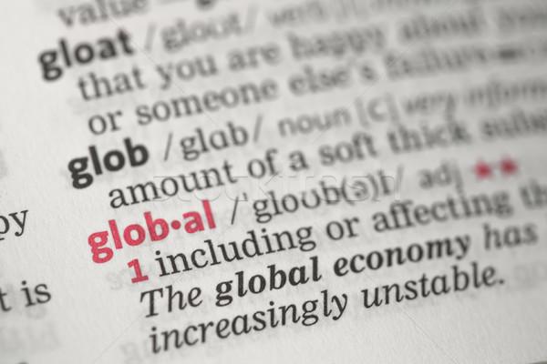 Globale definizione dizionario business informazioni economia Foto d'archivio © wavebreak_media