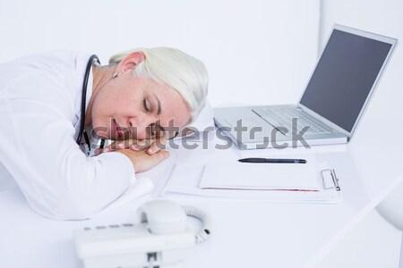 Man napping on his desk Stock photo © wavebreak_media