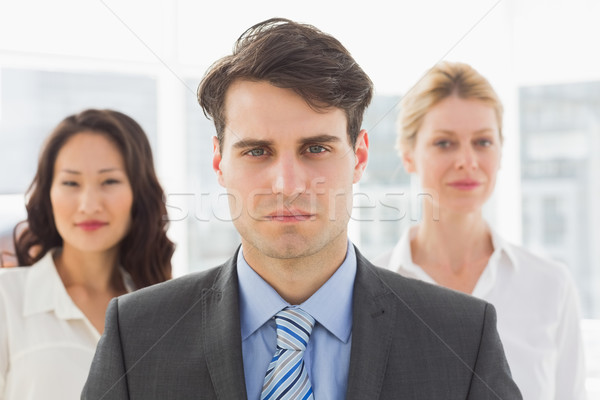 Ernstig zakenman team kantoor business vrouwelijke Stockfoto © wavebreak_media