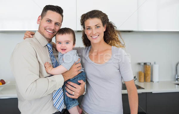 Smiling parents with cute baby boy Stock photo © wavebreak_media
