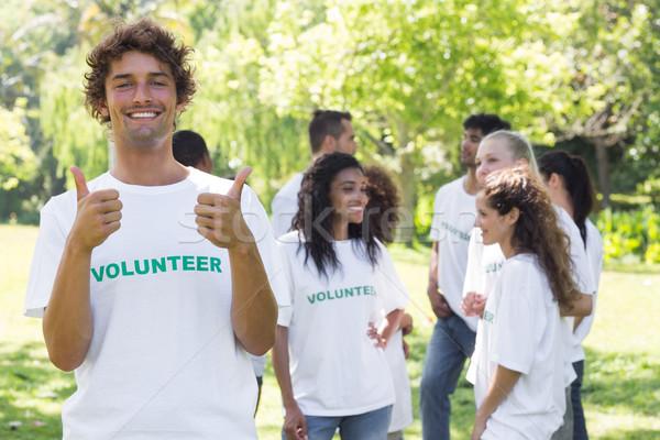 Feliz voluntário retrato amigos Foto stock © wavebreak_media