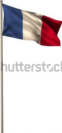 デジタル 生成された フランス フラグ 白 ストックフォト © wavebreak_media