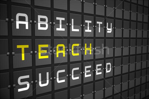 Tanulás fekete gépi tábla digitálisan generált Stock fotó © wavebreak_media