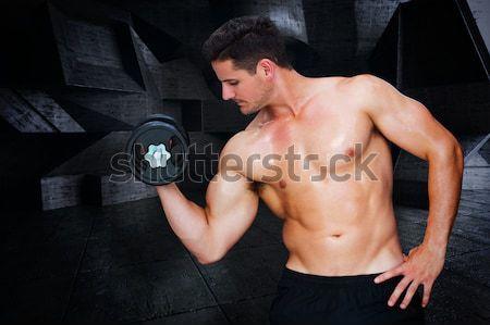 Silne w górę ciężki czarny Zdjęcia stock © wavebreak_media
