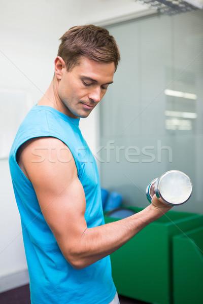Encajar hombre pesado gimnasio Foto stock © wavebreak_media