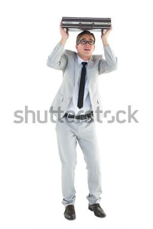 élégant affaires serviette blanche affaires costume Photo stock © wavebreak_media