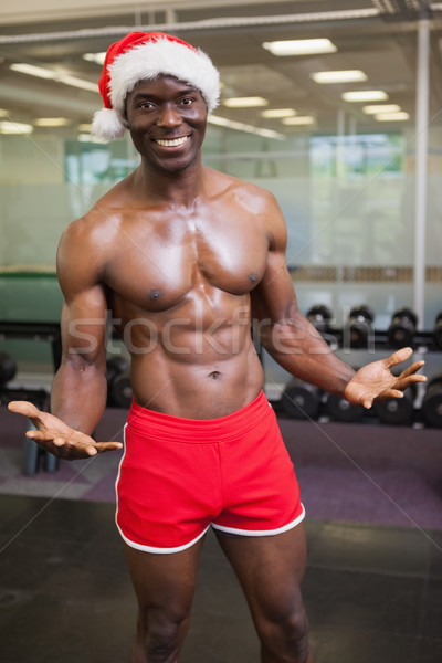 Sin camisa macho hombre sombrero gimnasio Foto stock © wavebreak_media