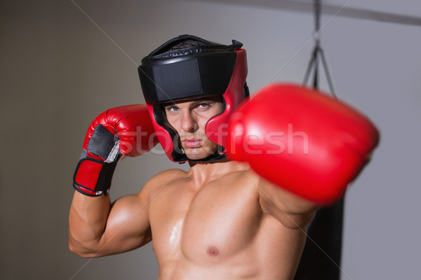 Male boxer attacking with his left in health club Stock photo © wavebreak_media