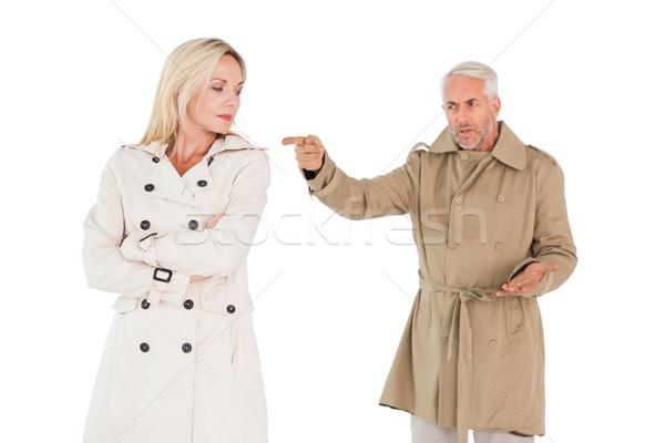 Boos paar vechten loopgraaf vrouw vrouwelijke Stockfoto © wavebreak_media