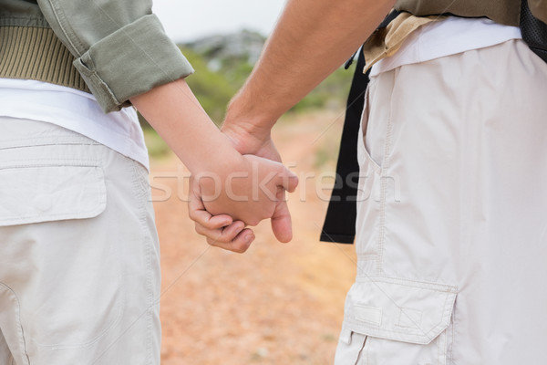 Close up of hiking couple holding hands Stock photo © wavebreak_media