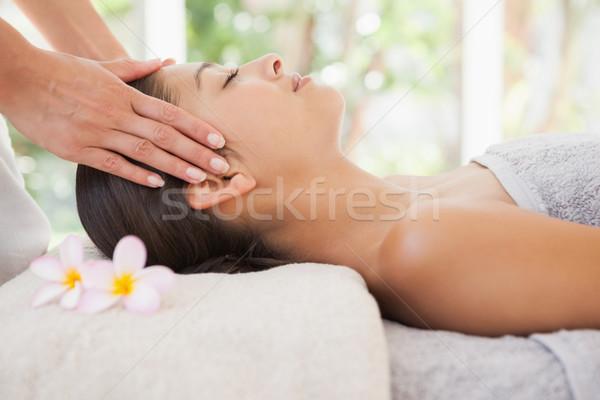 Bella bruna testa massaggio Foto d'archivio © wavebreak_media