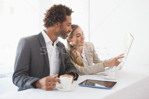 Stock photo: Business people having coffee on their break