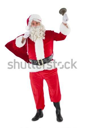 Papai noel saco sino branco feliz Foto stock © wavebreak_media