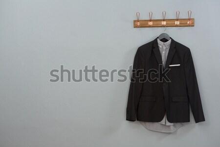 Hátsó nézet jóképű üzletember fehér férfi vállalati Stock fotó © wavebreak_media