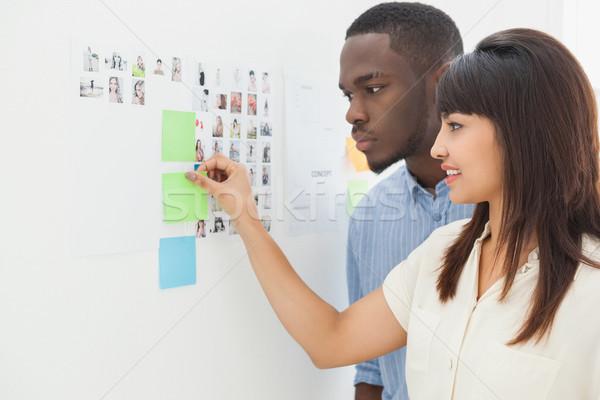 Zespołowej stałego karteczki biuro człowiek Zdjęcia stock © wavebreak_media