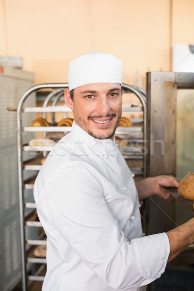 Boldog pék elvesz ki friss konyha Stock fotó © wavebreak_media