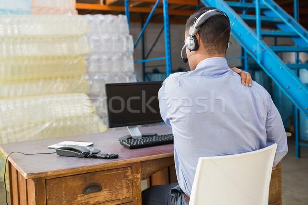 倉庫 マネージャ 作業 コンピュータ ビジネス ストックフォト © wavebreak_media