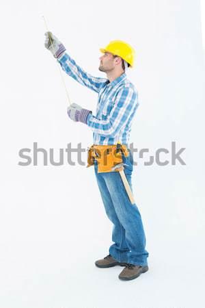 Pracownik budowlany biały budowy narzędzie Zdjęcia stock © wavebreak_media