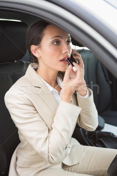 Empresária telefonema batom carro terno feminino Foto stock © wavebreak_media