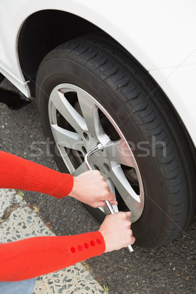 Woman replacing tire  Stock photo © wavebreak_media