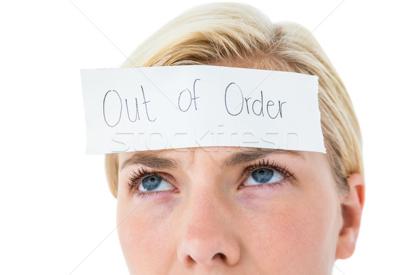 знак лоб белый женщину Сток-фото © wavebreak_media