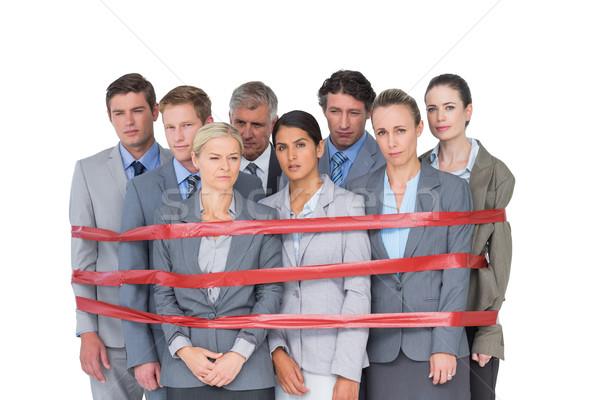 Ontdaan business team plakband witte vrouw zakenlieden Stockfoto © wavebreak_media