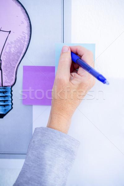 Twórczej kobieta interesu piśmie po to biuro kobieta Zdjęcia stock © wavebreak_media