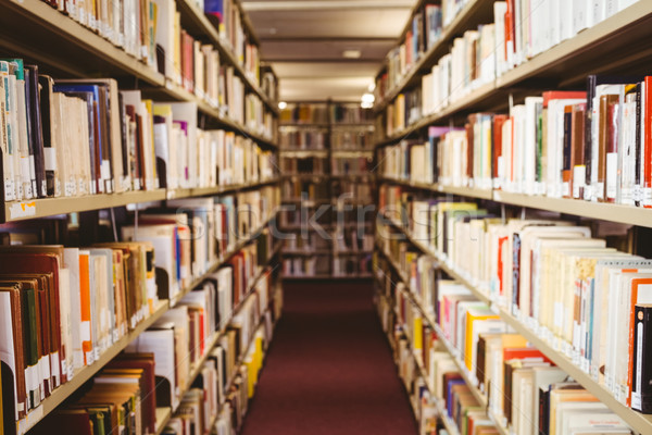 本棚 ライブラリ 図書 学校 教育 ストックフォト © wavebreak_media