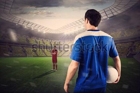 регби игрок мяч для регби вид сзади спорт Сток-фото © wavebreak_media