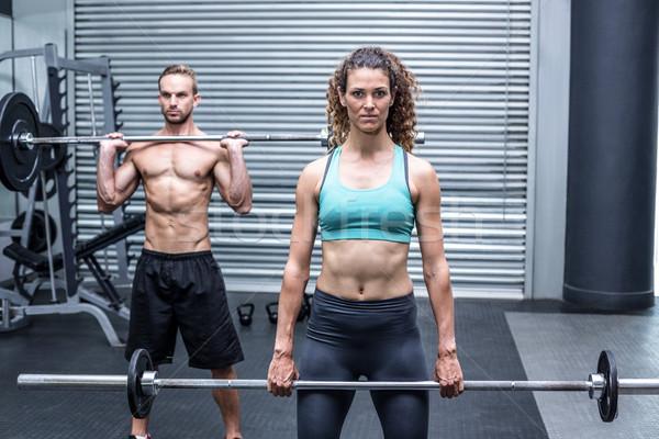 мышечный пару веса вместе портрет Сток-фото © wavebreak_media