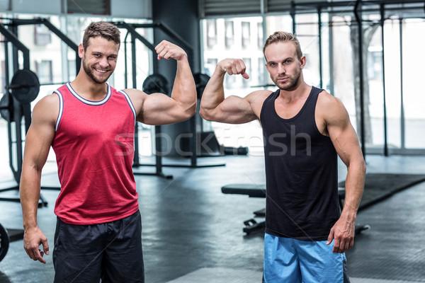 2 筋肉の 男性 上腕二頭筋 肖像 幸せ ストックフォト © wavebreak_media