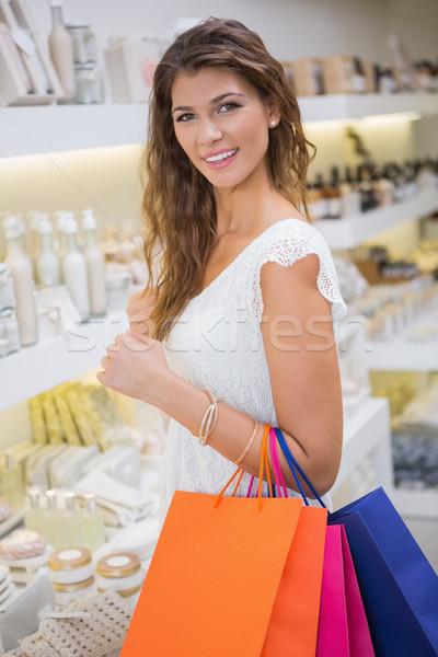 Retrato sorrindo olhando câmera salão de beleza Foto stock © wavebreak_media