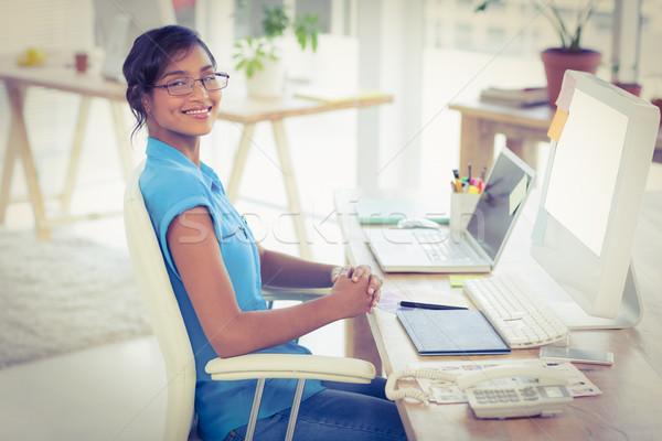 случайный дизайнера рабочих столе служба компьютер Сток-фото © wavebreak_media