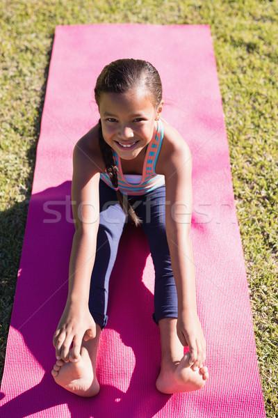 High angle portrait of girl practicing yoga Stock photo © wavebreak_media