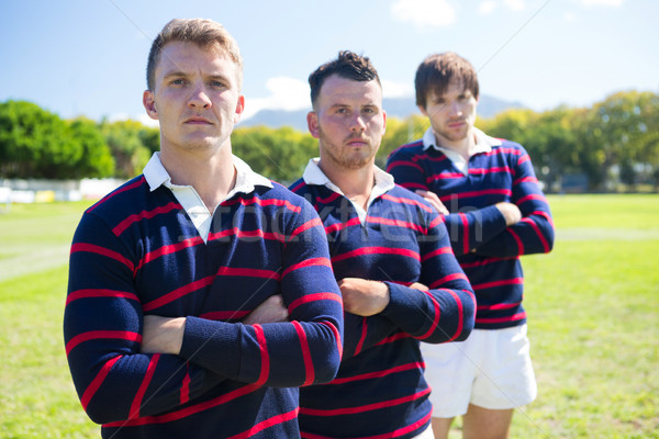 Portrait of players with arms crossed standing at field Stock photo © wavebreak_media