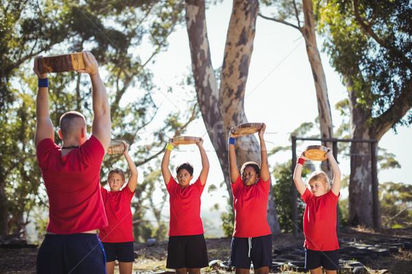 トレーナー 子供 木製 訓練 ストックフォト © wavebreak_media