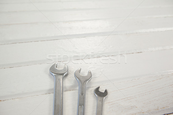 Wrenches on white table Stock photo © wavebreak_media