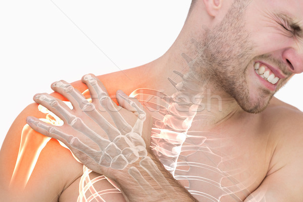 Digital composite of highlighted shoulder pain of man Stock photo © wavebreak_media