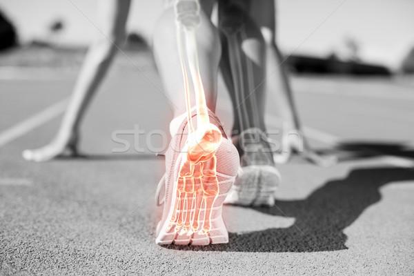 Huesos hombre carrera compuesto digital mujer equipo Foto stock © wavebreak_media