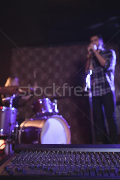 Mannelijke zanger discotheek Stockfoto © wavebreak_media