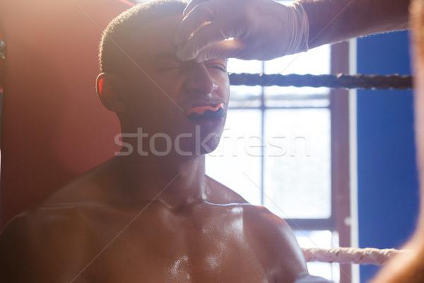 Entrenador crema hombre cara boxeo Foto stock © wavebreak_media