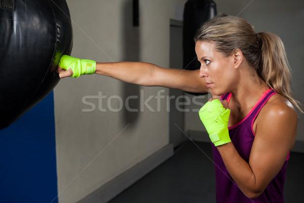 Mulher boxe fitness estúdio determinado Foto stock © wavebreak_media