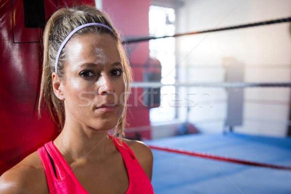 クローズアップ 肖像 小さな 女性 選手 ボクシング ストックフォト © wavebreak_media