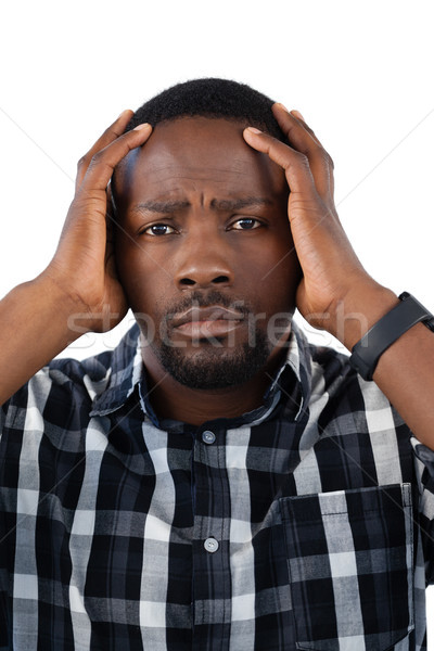 Confondre homme blanche portrait vert triste Photo stock © wavebreak_media