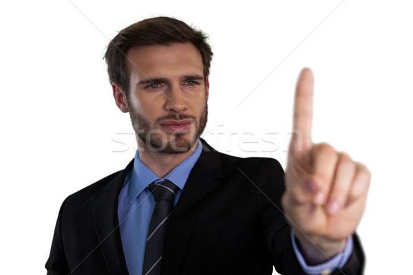 Közelkép üzletember kiválaszt láthatatlan interfész fehér Stock fotó © wavebreak_media