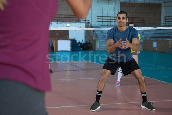 Full length of player playing volleyball Stock photo © wavebreak_media