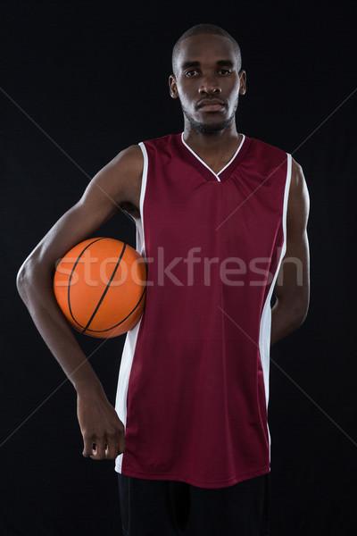 Speler basketbal witte sport zwarte Stockfoto © wavebreak_media