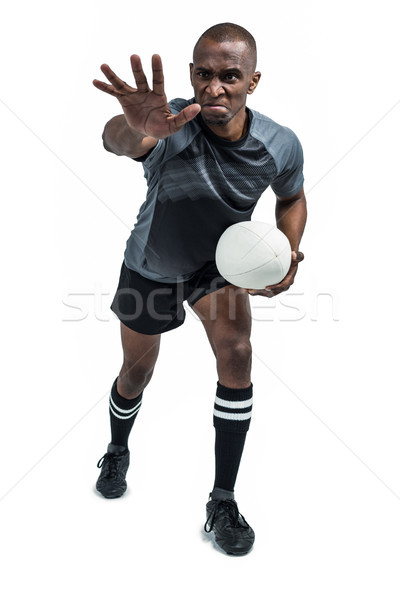 Agressivo rugby jogador bola Foto stock © wavebreak_media